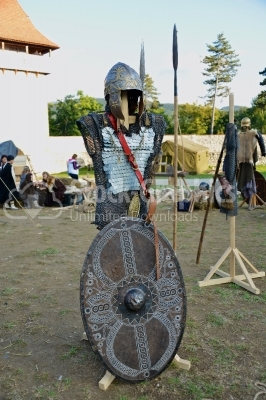 Armor with shield