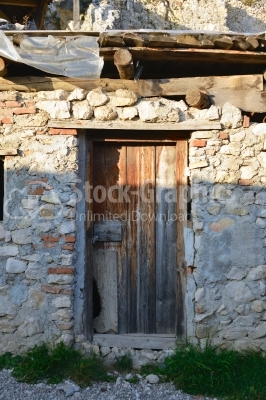 A ramshackle door