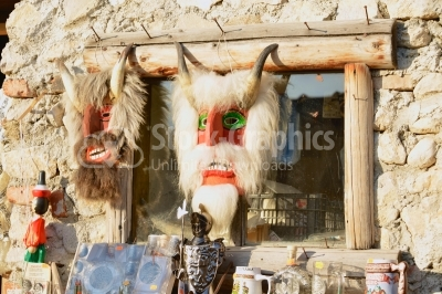 Traditional romanian handmade masks from Brasov area, Transylvan