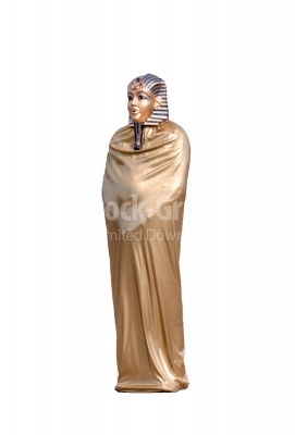 Golden statue of egyptian pharaoh