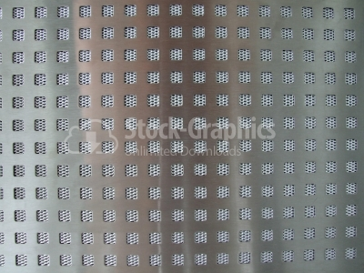 Perforated silver metal background