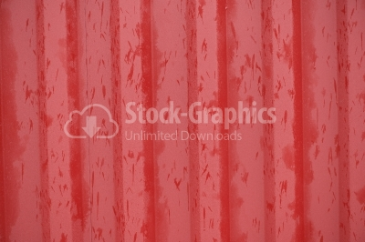 Red vintage orrugated steel sheet