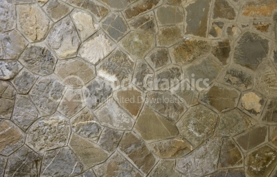 Colored stone surface