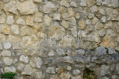 Old natural stone wall