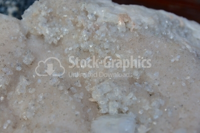 Indefinite quartz crystal background