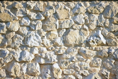 Stone wall built