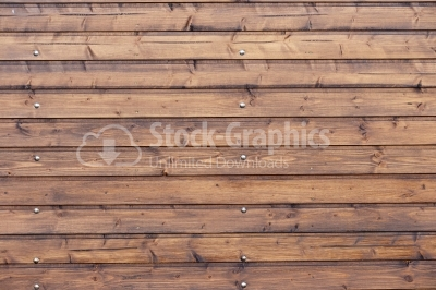 Wooden planks with nails