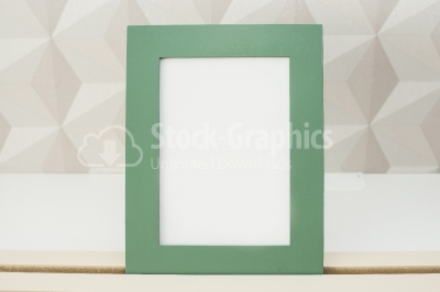Blank green picture frame