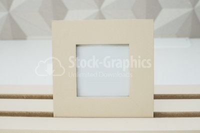 Photo frame on table