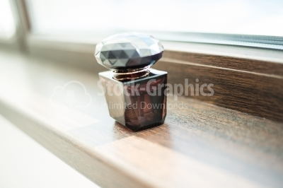 Brown perfume bottle