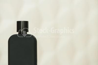 Black blank parfume bottle