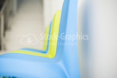 Close up plastic chairs