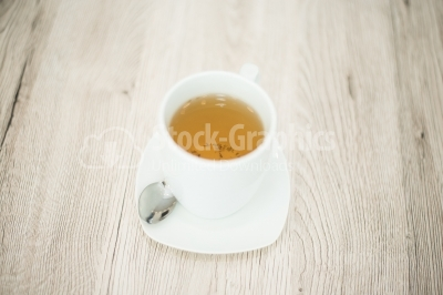 Cup of tea on the wooden surface
