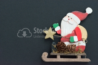Close up of a composition of Christmas decorations