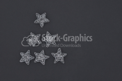 Wireframe Sparkly Silver Star