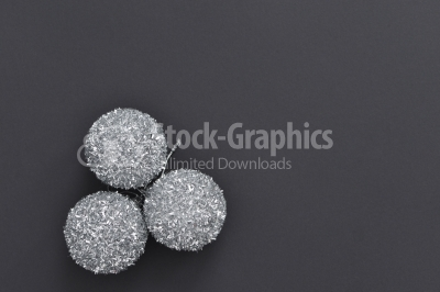 Christmas balls on a dark background