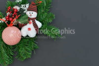 Christmas Decoration Over Dark Background