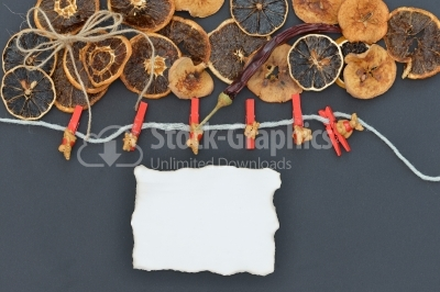 Abstract ornament with dried fruits