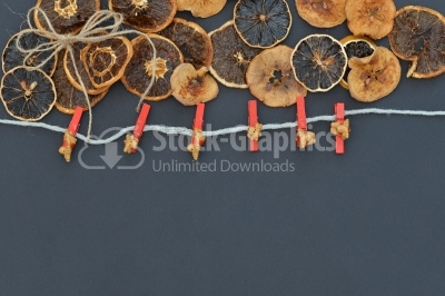 Decorative ornaments with fruits