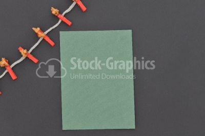 Decoration with green paper