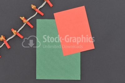 Decoration with colored paper