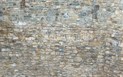 Stone-material wall