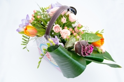 Arrangement of spring flowers