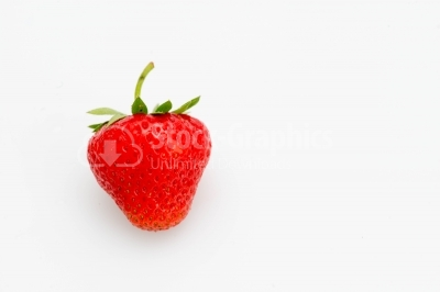 Red, ripe strawberry focus
