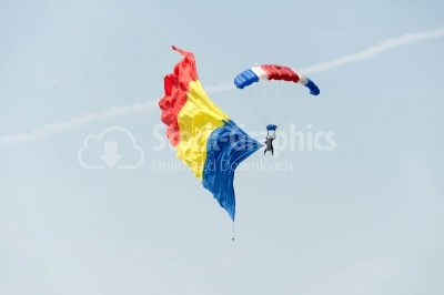 Romanian skydivers