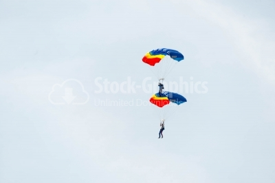 Skydiving performed by romanian people