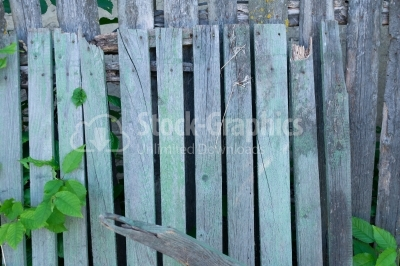 Old wooden fence