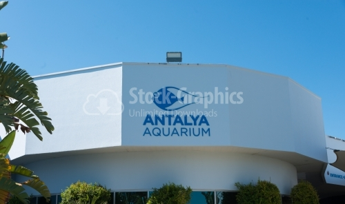 The logo of Antalya's Aquarium