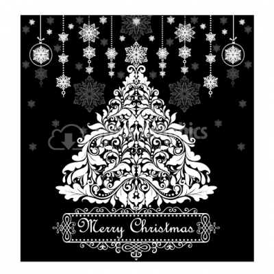 Ornamental Christmas Tree - Illustration