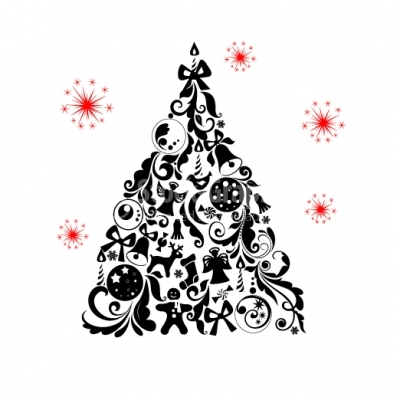 Christmas swirls Tree - Illustration