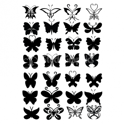 Butterfly shapes - Illustration