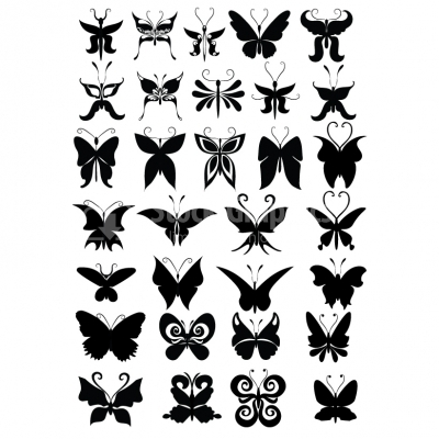Butterfly Silhouette Collection - Illustration