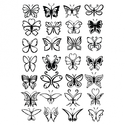 Butterfly set - Illustration