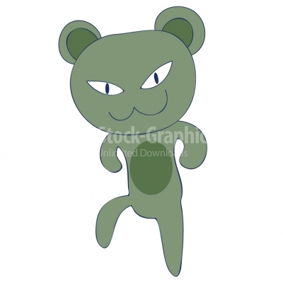 Green Angry Cat