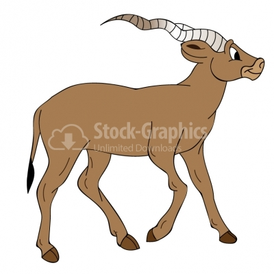 Cartoon Goat - Illustration