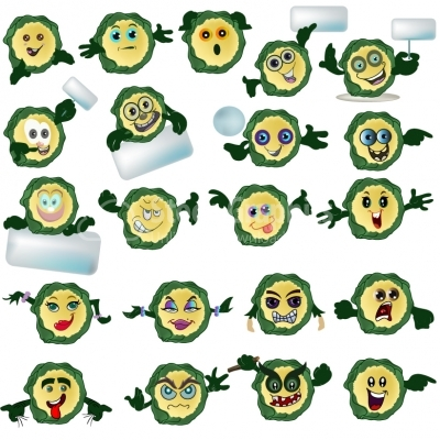 Mascots Expression Faces - Illustration