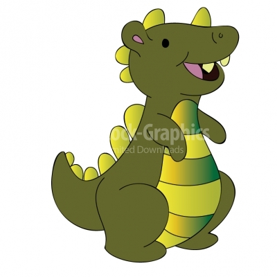 Smiling dino cartoon Illustration