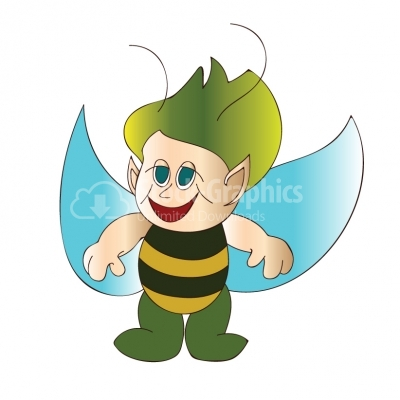 Bee elf cartoon - Illustration