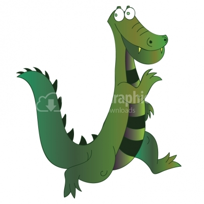 Crocodile Cartoon - Illustration