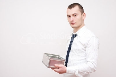 Serious Young businessman - Stock Image