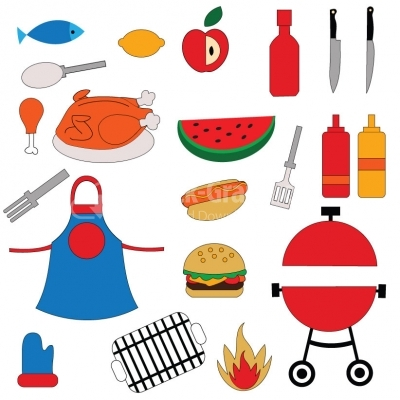Barbeque Set - Illustration