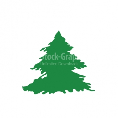 Christmas tree vector - Illustration
