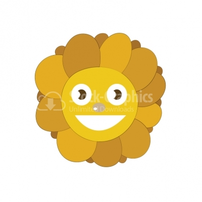 Cartoon sunflower vector illustration