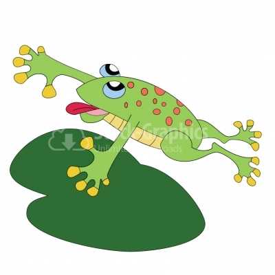 Happy leaping frog - Illustration