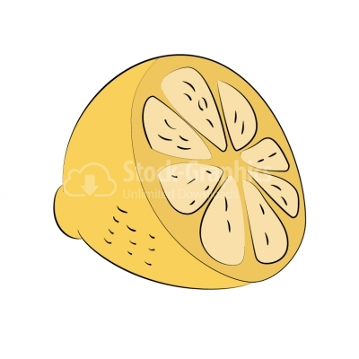 Fresh lemon illustration