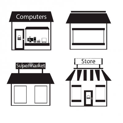 Store icons - Illustration